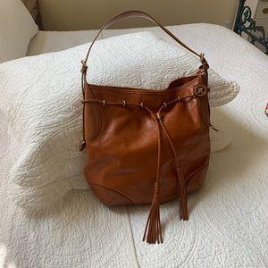 DKNY leather shoulder tote bag